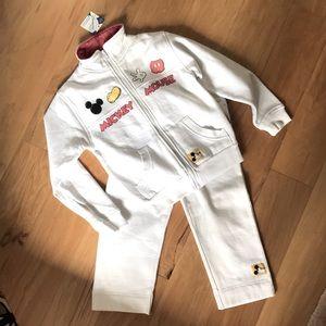 NWT Disney Girls White Tracksuit Jacket Pants 8